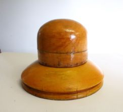 Milliner's 1960's Dome Crown and Downturned Cloche Hat Brim Block